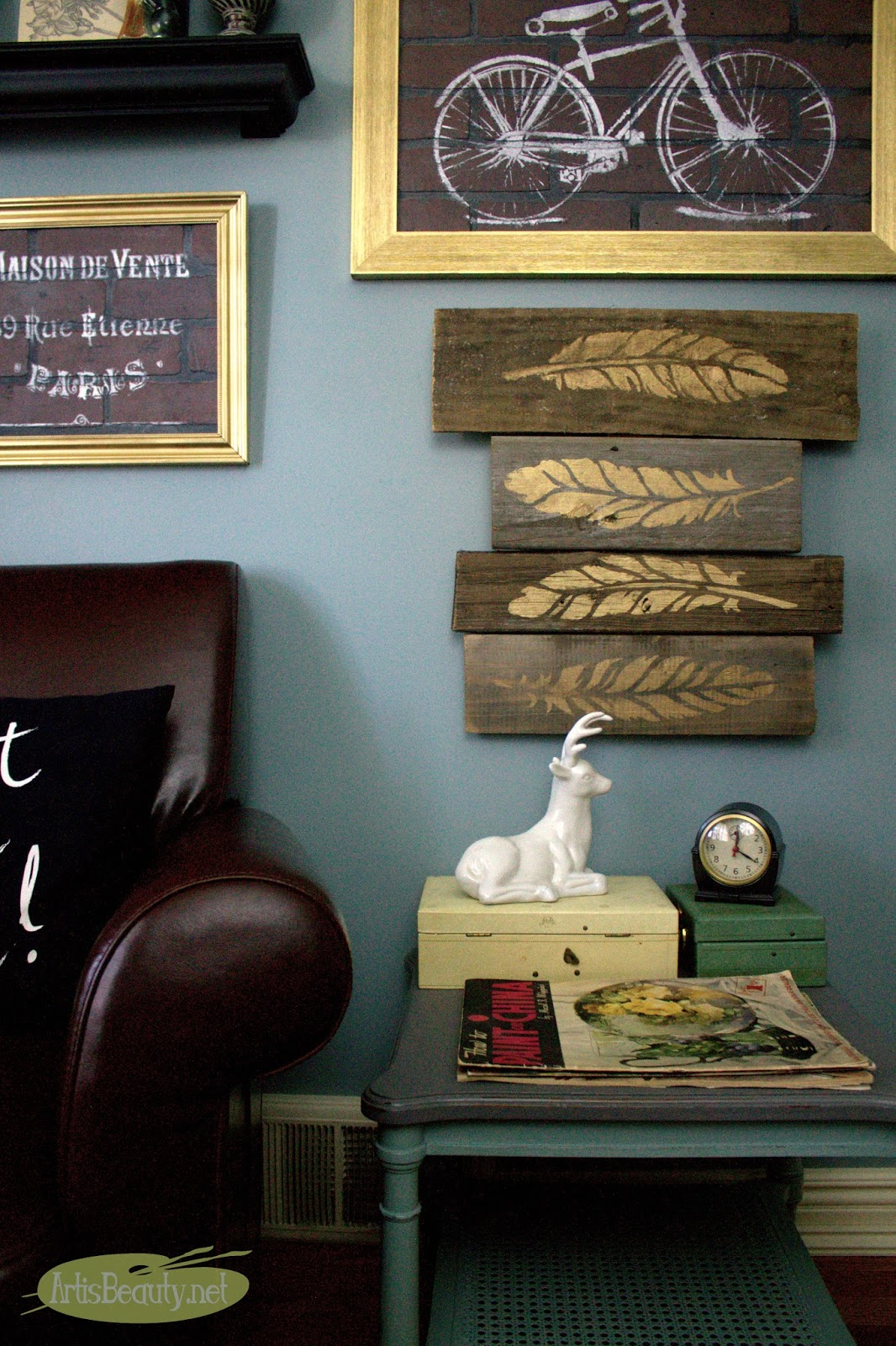Art Is Beauty Diy Gold Feather Autumn Barn Wood Wall