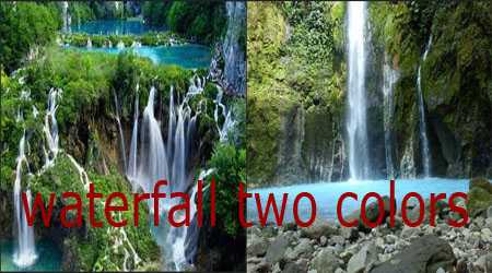 waterfall two colors sibolangit north sumatera