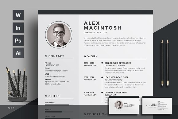 CREATIVE MARKET LATEST CV RESUME DESIGN TRENDS FOR 2017