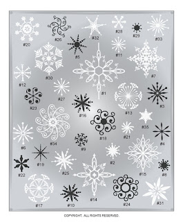 Image Christmas winter vinyl decal snowflakes