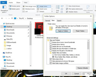 Cara Membuat File/Folder Super Hidden di Windows