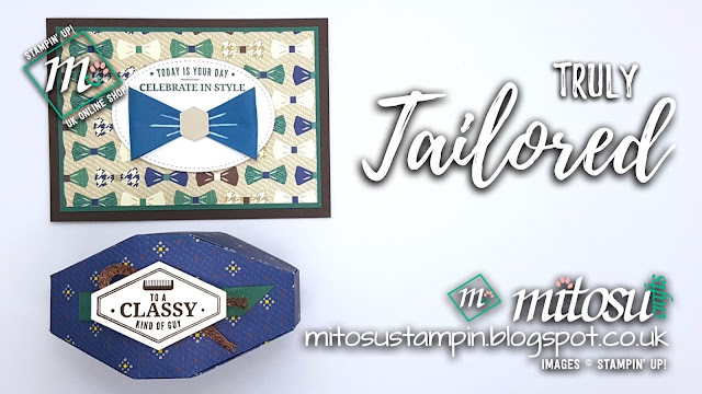 Stampin' Up! Truly Tailored SU Card & Gift Box Ideas order craft supplies from Mitosu Crafts UK Online Shop