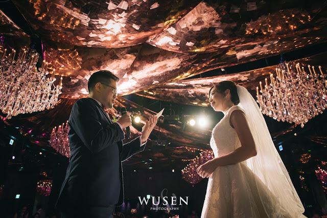 台北婚攝君品酒店天花板進場新郎新娘誓詞