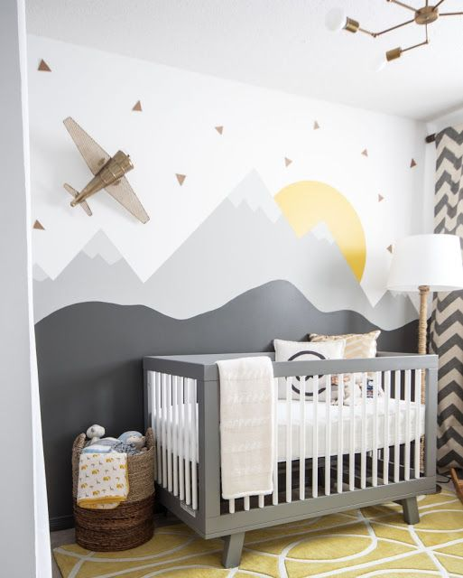 mountain house, mountain, góry, pokój, room, Pokój dla dziecka, print, art, design, natural, boy, kids room, minimalistic, fototapeta, photowall, wall,