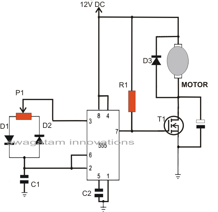 Solar Tracker Circuit Diagram