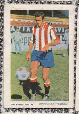 Cromo de la temporada 71-72, álbum de ed. Disgra