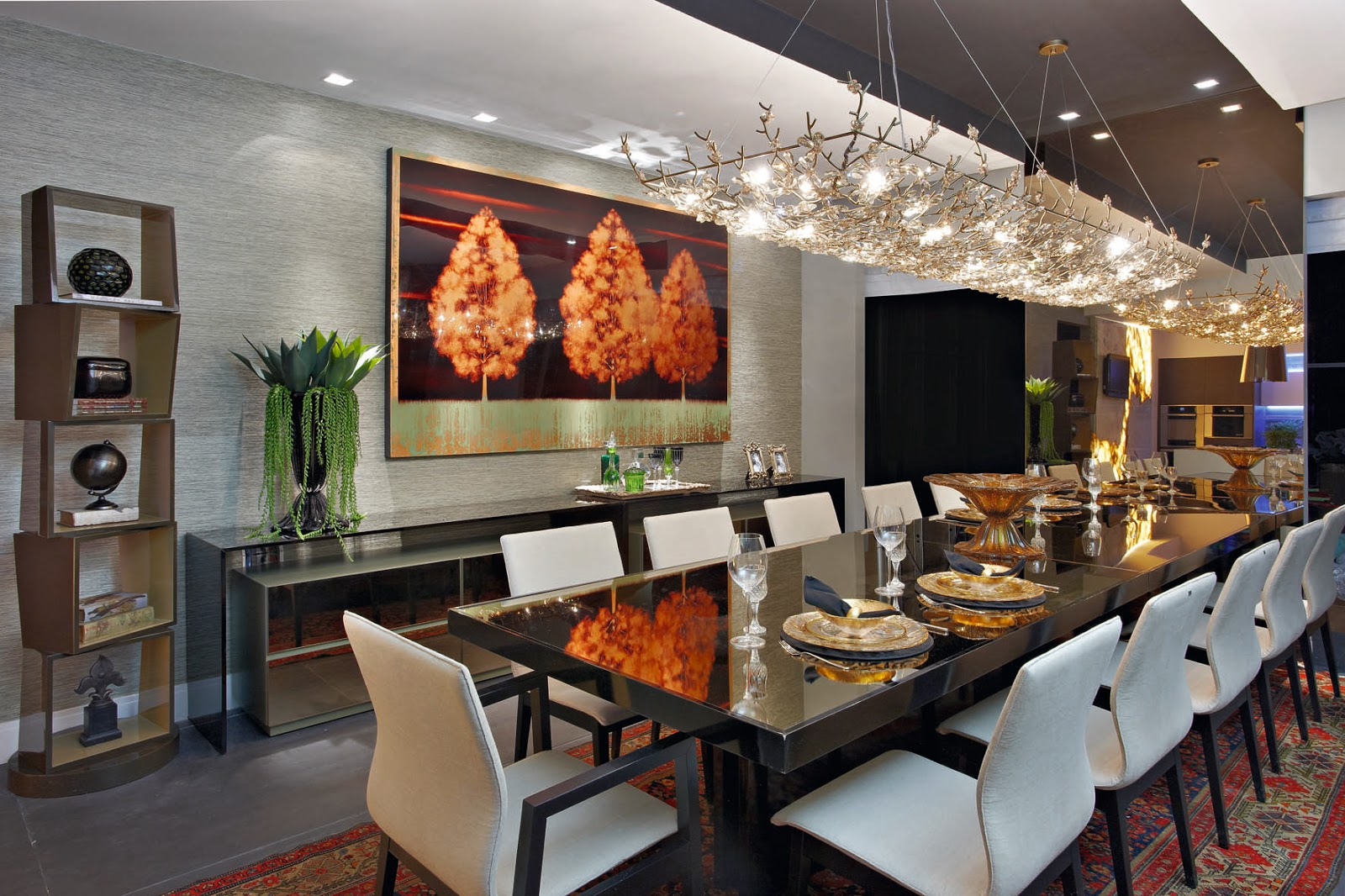 Salas De Jantar 50 Modelos Maravilhosos E Dicas De Como Decorar  -> Casa Sala De Tv Sala De Jantar A Fazenda