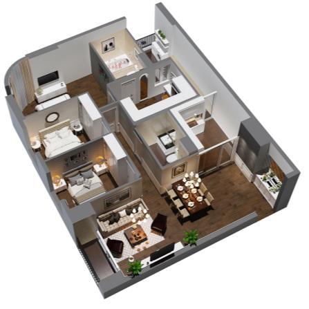 Căn 4 phòng ngủ Imperial Plaza