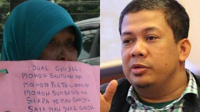 Viral Ibu Jual Ginjal di Pinggir Jalan, Fahri Hamzah: Mana Kartu Sakti Pak Jokowi dan Ridwan Kamil?