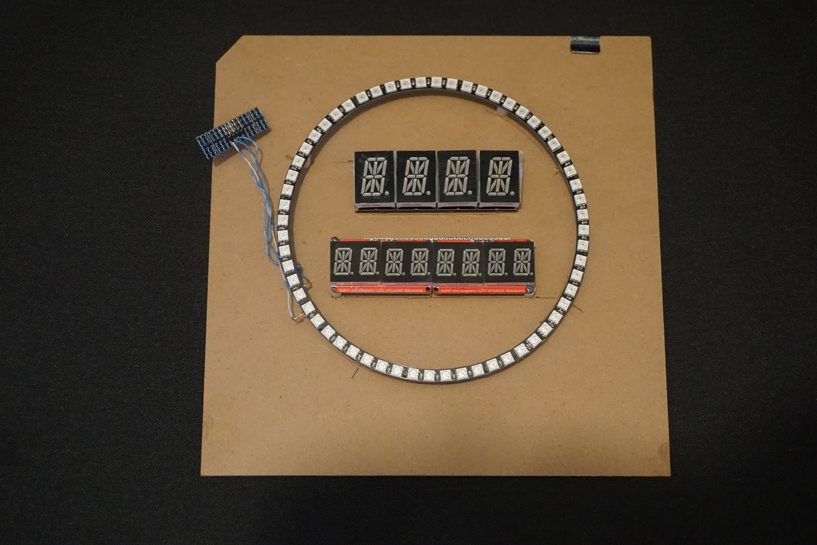 Electronics Circuit Clock Displays And Clock Timing For Single Board Computer