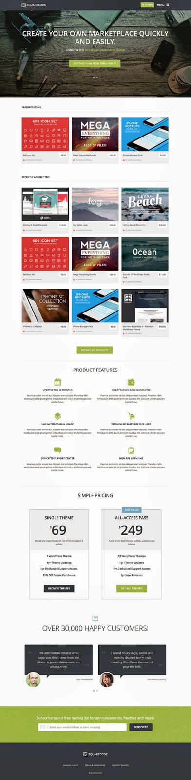 themeforest like theme