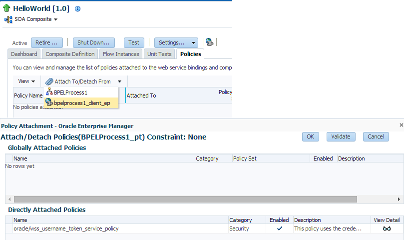 Secure SOA 12c Composite using OWSM