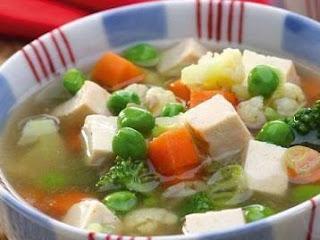 GAMBAR Sup Miso Tofu