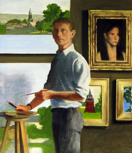 Louis Ryan, Self Portrait, Portraits of Painters, Fine arts, portraits of painters blog, Paintings of Louis Ryan, Painter Louis Ryan