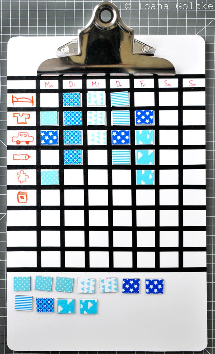 miss red fox diy tutorial magnet whiteboard klemmbretter f r die aufgaben der kinder. Black Bedroom Furniture Sets. Home Design Ideas