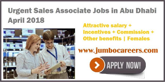 Urgent Female Sales Associate Jobs in Abu Dhabi April 2018 - Jumbo - sales associate
