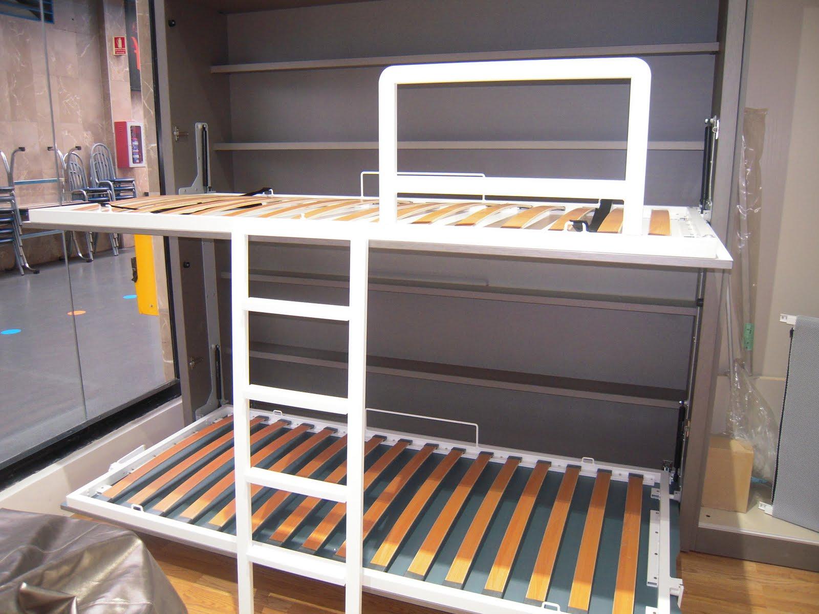 Decoracion dormitorios juveniles peque os habitaciones - Literas para habitacion pequena ...
