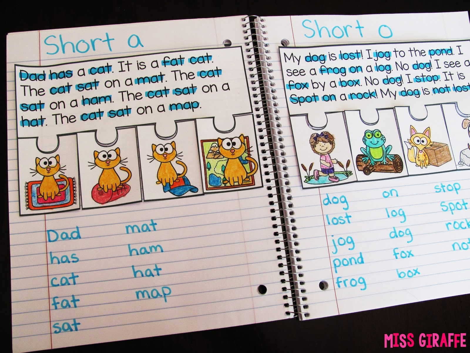 Miss Giraffe S Class Phonics Fluency Notebooks