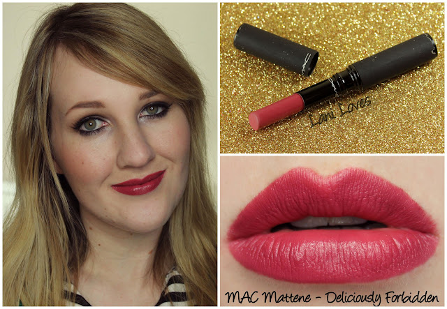 MAC Deliciously Forbidden Mattene lipstick swatch