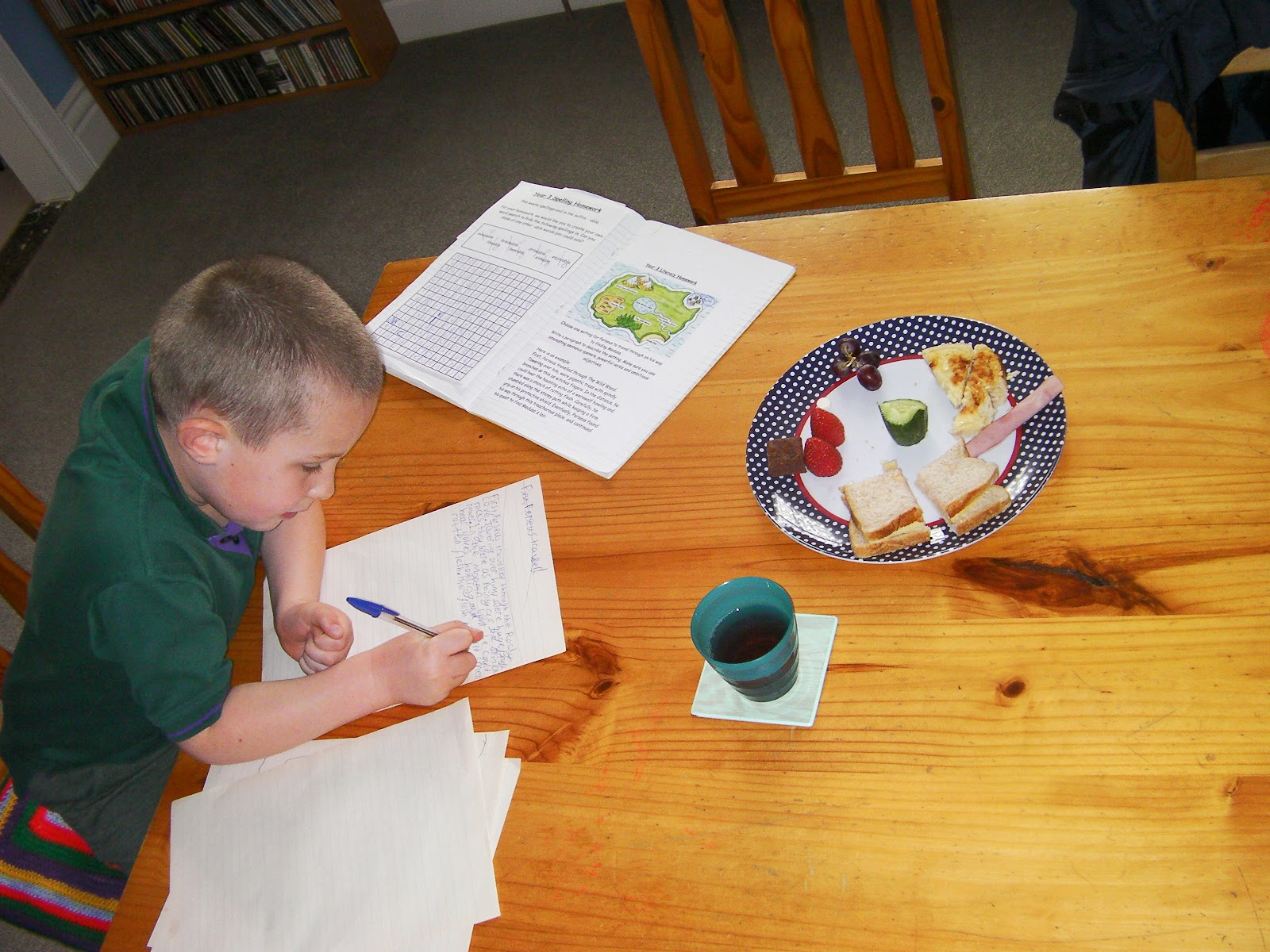 afternoon snack with perseus and mythical creatures homework project