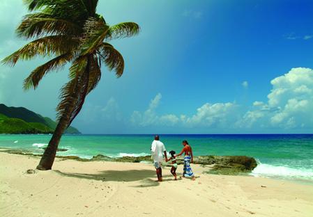 Plage de Cane Bay à Sainte Croix iles vierges américaine