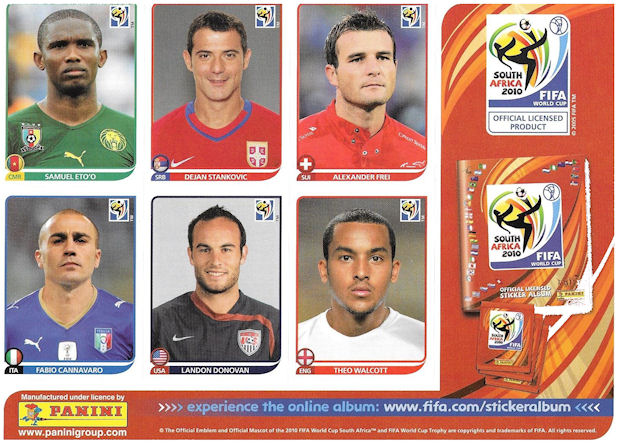 COTE D/'IVOIRE 248 DIDIER DROGBA Figurina-Sticker n AFRICA CUP 2010 Panini