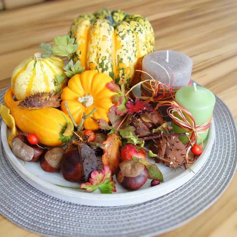 Diy Herbstdeko Herbstteller Ganz Easy Dekorieren Perlenkuchen