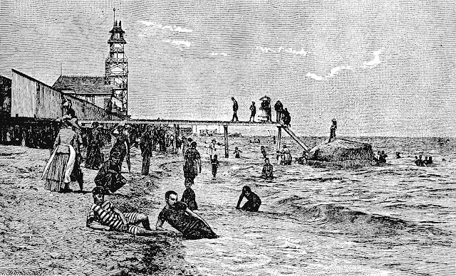 1889 beach air-bathing sun-bathing