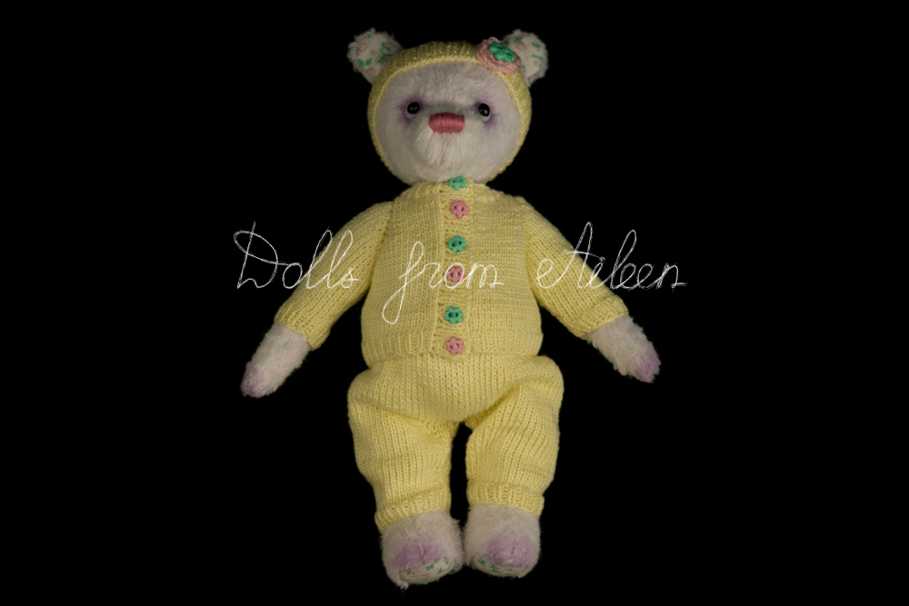 ooak artist teddy bear wearing sporty outfit