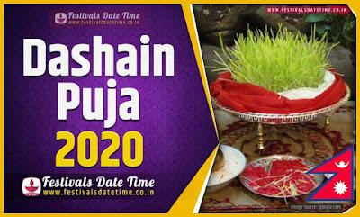 2020 Dashain Date Time, 2020 Dashain Nepali Calendar