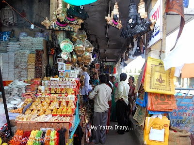A peep inside a shop at Tirupati Balaji Temple, Andhra Pradesh