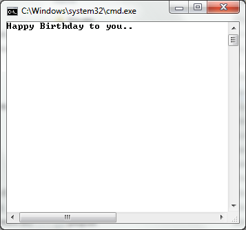 HACKING: Make Birthday animation using command prompt