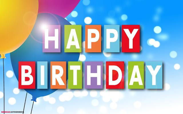 Verjaardag tekst tekst happy birthday met ballonnen