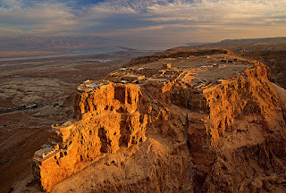Masada Hilltop - view from the sky