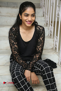 Actress Punarnavi Bhupalam Stills in Black Dress at Pittagoda Press Meet  0076.JPG