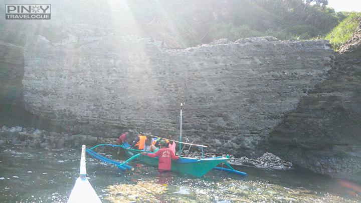 Boat docking at the Carabao Island