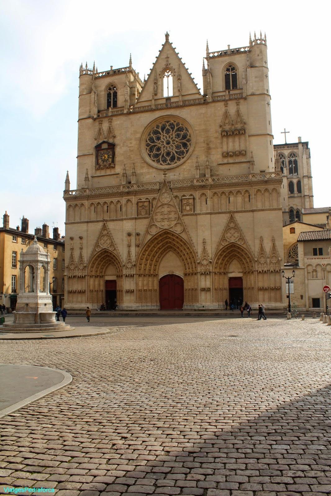 Cathedrale Saint-Jean-Baptiste de Lyon, Vieux Lyon, Unesco World Heritage, Patrimoni de la Humanitat, Catedral gotica, França, France, Rhône-Alpes