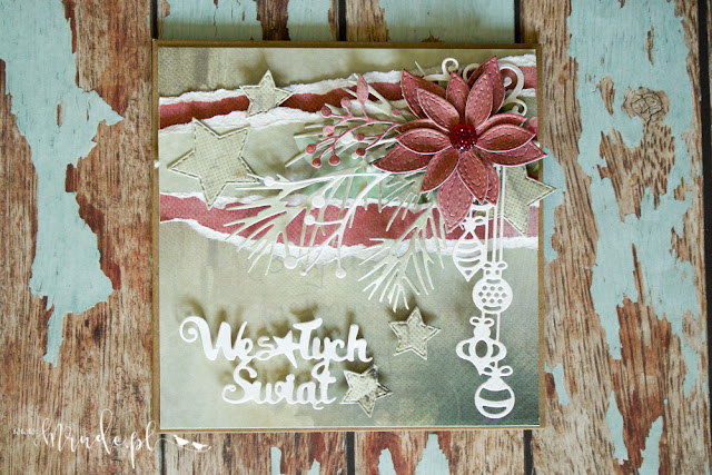 Ręcznie robiona kartka świąteczna