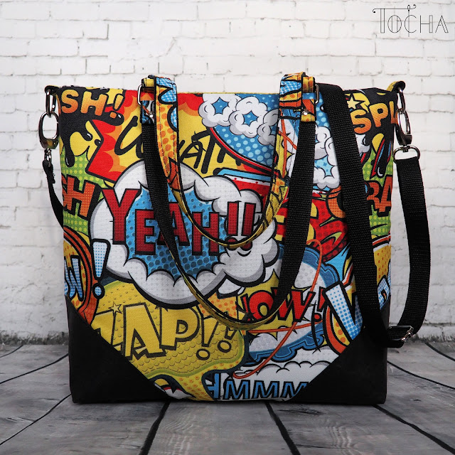 comic strip, comic book, Serge Gainsbourgh, Brigitte Bardot, waterproof, bag, shoulder bag, cross-body bag, dresowka.pl, polyester, Washpapa, pop art, vegan,