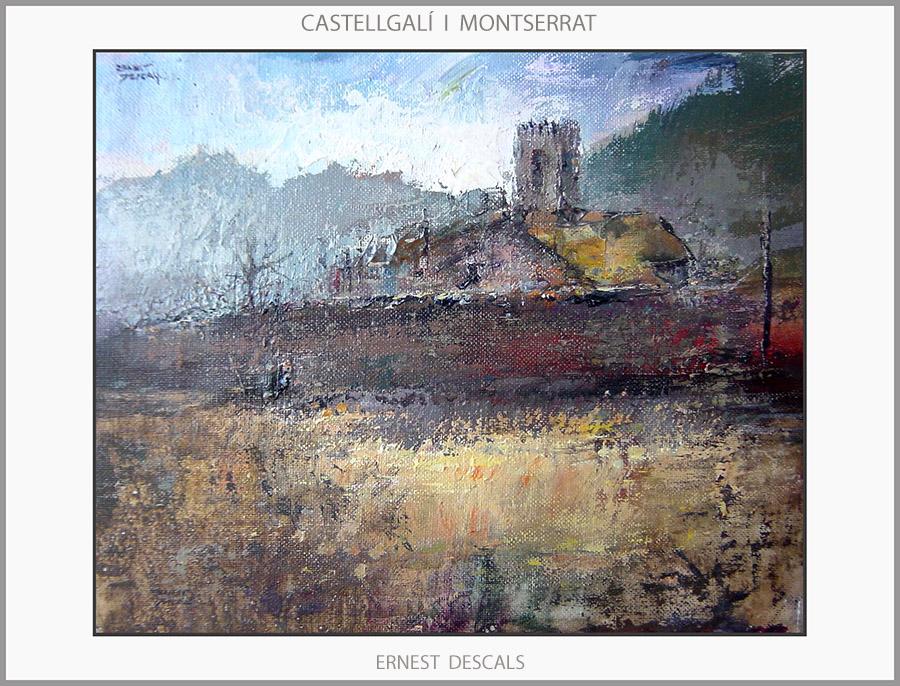 MONTSERRAT-PINTURA-CASTELLGALÍ-PAISATGES-CATALUNYA-PINTURES-ARTISTA-PINTOR-ERNEST DESCALS-