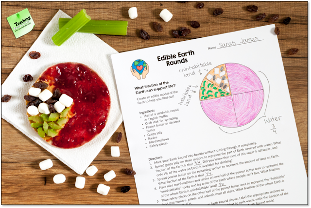 What fraction of our planet is habitable? Create edible Earth Rounds to find out!