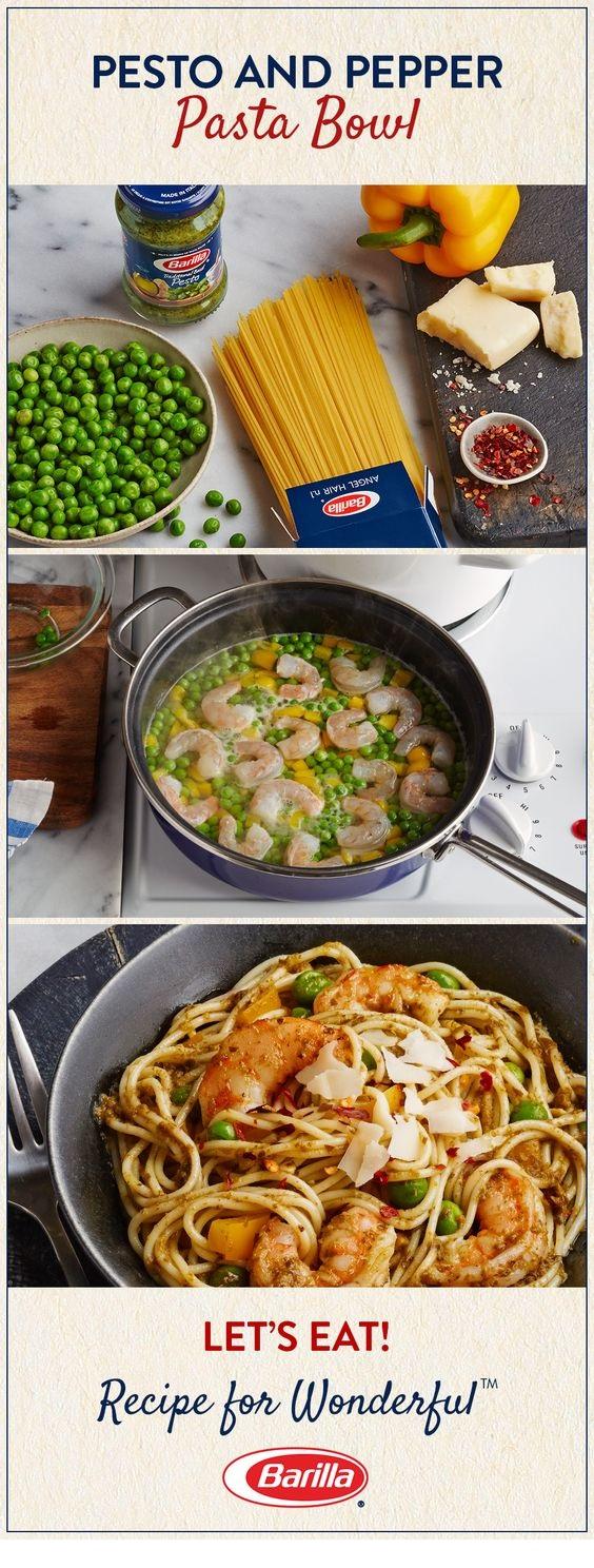Barilla® Pesto And Pepper Pasta Bowl