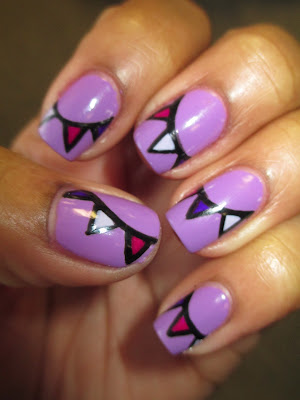 Jesse's Girl, Spring Break, Wild Thins, Essie, Lilacism, purple, bunting, spring, nails, nail art, nail design, mani