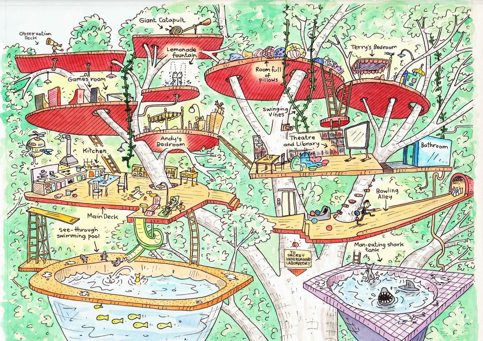 Kleurplaat De Waanzinnige Boomhut Van 13 Verdiepingen Archidev