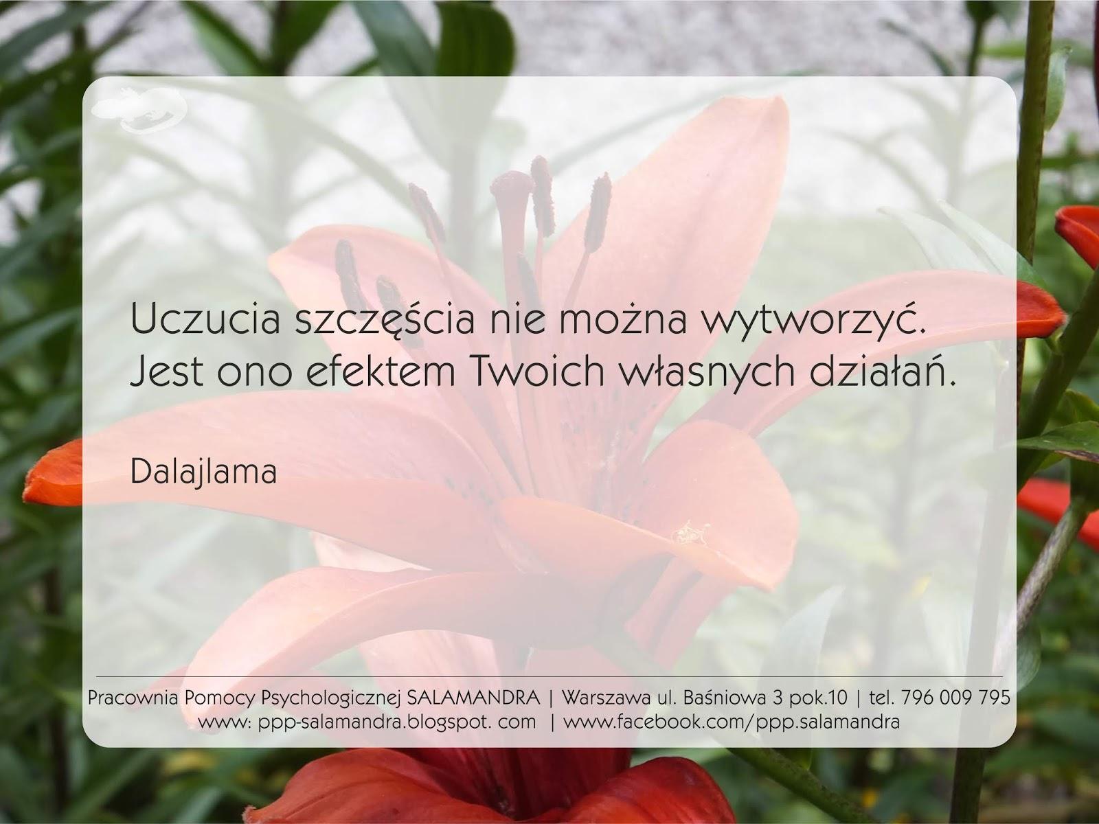 Dobry psycholog Warszawa cytuje Dalajlamę