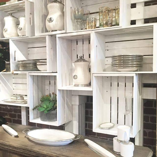 armario cozinha sem porta reutilizar caixotes de madeira