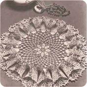 Centro de Mesa con volante de ondas a Crochet