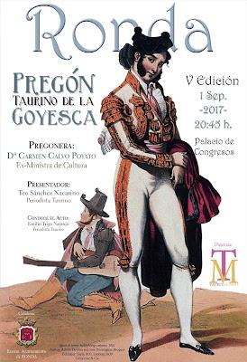 Ronda - Feria de Pedro Romero 2017 - Cartel Pregón Taurino