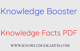 Knowledge Booster-knowledge facts pdf
