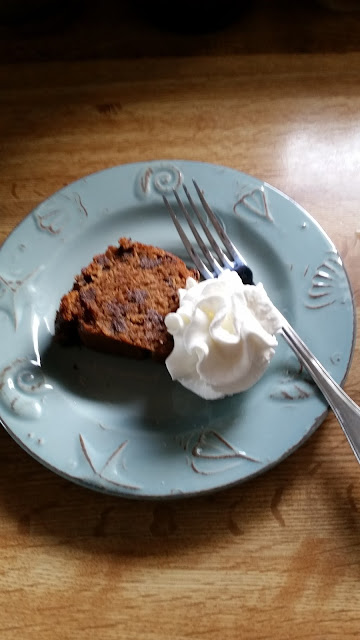 Whole Grain Applesauce and Spice Chocolate Chip Cake.